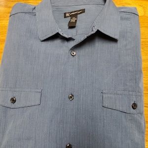 INC Detail Dress Shirt With Adjustable Sleeves